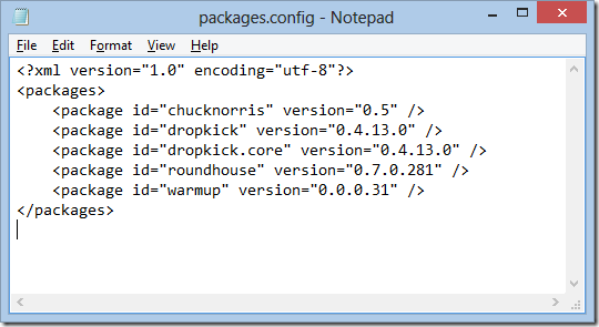 Packages.config