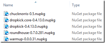 NuGet packages in ZIP