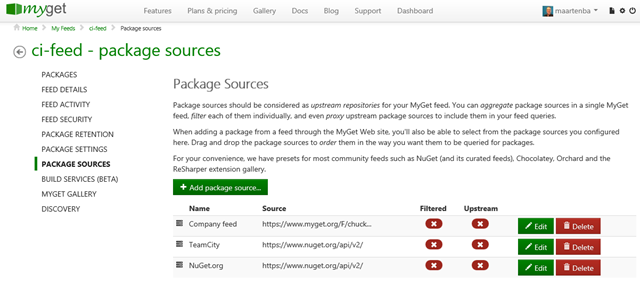 Making package source available during build