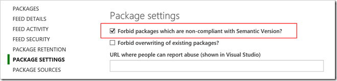 Forbid packages which are non-compliant with Semantic Version?